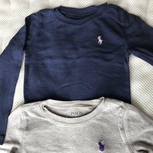 Two Polo Ralph Lauren long sleeve t-shirts.